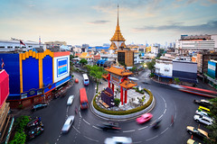 Odean circle china town Bangkok,  May the gate is a landmark in chinatown at Bangkok, Thailand (Patrick Foto ;)) Tags: architecture asia asian august avenue bangkok blur business car celebration china chinatown church circle circus city commemoration culture district dusk effect evening gate island king landmark light motion movement odean outdoor pagoda road rotary round roundabout sky square street temple thailand tourism town traffic transportation travel turning twilight vehicle krungthepmahanakhon th