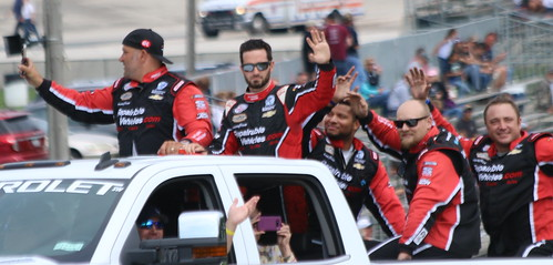 8.27.17 Road America / NASCAR Xfinity Series - Jeremy Clements with crew before first win at Road America