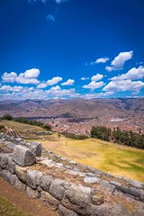A look at Cusco from Saqsaywaman archeological site.