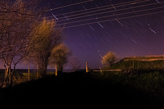 """Star Trails"" (iavork0lev) Tags: bulgaria isperih night shoot long exposure abandoned star stars trails startrails dark rural countryside astro photo photograpy midnight nightscape nightshoot spring 2017 trees flowering darkness"