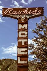 Rawhide Motel (TooMuchFire) Tags: rawhidemotel jackson jacksonhole motel motels signs sign neon cowboy 75smilwardstjacksonwy vintagesigns vintagesignage vintagesign oldsigns oldsign signporn neonporn retro retrosigns retrosign typography wyoming signage