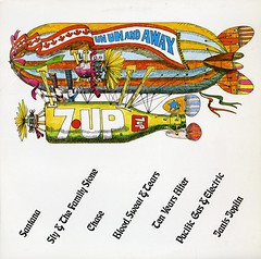 Un Un and Away (grooveisintheart) Tags: 7up7up vintage 1960s 1970s 70s groovy mod psychedelic graphocdesign albumcover blimp zeppelin dirigible vintageephemera graphicdesign design