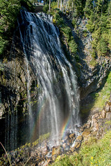 2017 Pac NW Mt Rainier-176 (Michael L Coyer) Tags: parks nationalparks usnationalparks unitedstatesnationalparks mountrainiernationalpark mtrainiernationalpark mountrainiernatlpark mtrainiernatlpark mountrainier mtrainier mountain mount washington waterfall cascade rainbow naradafalls falls river creek brook stream