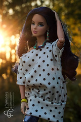 Lucia (astramaore) Tags: sun sunset summer jeans polkadots longhair rufus blue rock candy bracelet glam chic beauty style dollphotography integritytoys astramaore