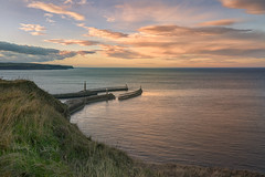 Safe harbour (Through Bri`s Lens) Tags: northyorkshire whitby harbour hightide cliff path brianspicer canon5dmk3 canon1635f4 lee06ndgrad