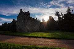 Castle sunset (Phil-Gregory) Tags: nikon d7200 tokina 1116mm 1120mm 1116mmf8 1120mmf28 11mm 116proatx 1120 1120mmproatx11 1120mmproatx wideangle ultrawide scenicsnotjustlandscapes cawdorcastle sunset sky clouds building scotland national natural blue light