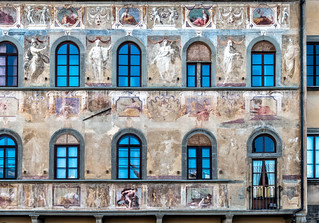 Fading Murals at Piazza Di Santa Croce, Florence