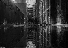 Reflected (kungfuslippers) Tags: reflection streetphotography manchester wideangle