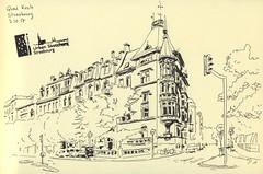 Quai Koch - Strasbourg (lolo wagner) Tags: croquis sketch usk urbansketchers strasbourg