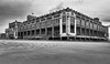 Convention Hall (Dalliance with Light (Andy Farmer)) Tags: jersey beach ocean landscape boardwalk cloudy nj stormy sky sand bw conventionhall asburypark shore newjersey unitedstates us