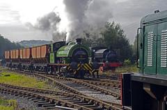 Number 15 ,Foxfield 24092017 (ROPERUNNER) Tags: foxfield cranetank beyerpeacock rsh70631942 belerpophen whinston hunslet foxfieldcolliery dubs thomashill diesel locomotive