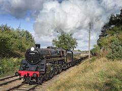 73084 (Geoff Griffiths Doncaster) Tags: 73084 73156 woodthorpe gcr great central railway steam gala loco locomotive engine