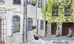 La France des sous-préfectures 83 (chando*) Tags: aquarelle watercolor croquis sketch france