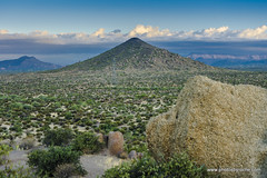 From Hackamore trail in the morning (doveoggi) Tags: 8937 arizona scottsdale boulder mountain desert landscape clouds