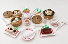 Orcara Chinese Dim Sum # 5 - 8 (MurderWithMirrors) Tags: orcara miniature food dimsum chinese steamer chopsticks plate bowl dumplings soysauce teapot tea mwm