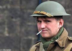 NYMR 1940's Weekend (2017) 065 (Row 17) Tags: england yorkshire grosmont people man men uniform uniforms army soldier soldiers reenactment reenactor reenactors 1940s nikon candid portrait