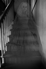 Brian_Ghostly Lady 3 LG BW_082517_2D (starg82343) Tags: 2d brianwallace steps ghost female railing banister haunted entity paranormal weird strange transparent ghostly apparition stairs stairsteps fortmchenry grayscale monotone blackandwhite woman earthbound halloween