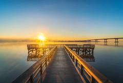 Burning through the Fog (Michael Chronister) Tags: virginia explore exploration sunrise fog river mattaponi