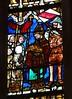 ca. 1360-1365 - 'Translation of the relics of St. Florentius by Bishop Rachio, scenes from the life of St. Florentius of Strasbourg', Collégiale Saint-Florent, Niederhaslach, dép. Bas-Rhin, France (RO EL (Roel Renmans)) Tags: 1360 1365 window stained glass verrière glasgemälde fenster vitrail vitral glasinlood scenes niederhaslach bas rhin france german collégiale saint st florent florentius church kirche église iglesia armor armour 14th century christ vitraux jesus jeanbaptiste glasmalerei mail kettenhemd cotte de mailles hauberk studded gauntlet bascinet beckenhaube poleyn greave roundel