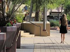 Scottsdale, AZ (thomasgorman1) Tags: street walking person woman city urban sidewalk plants trees outdoors candid strolling neighborhood canal arizona streetshots streetphotos public scottsdale upscale