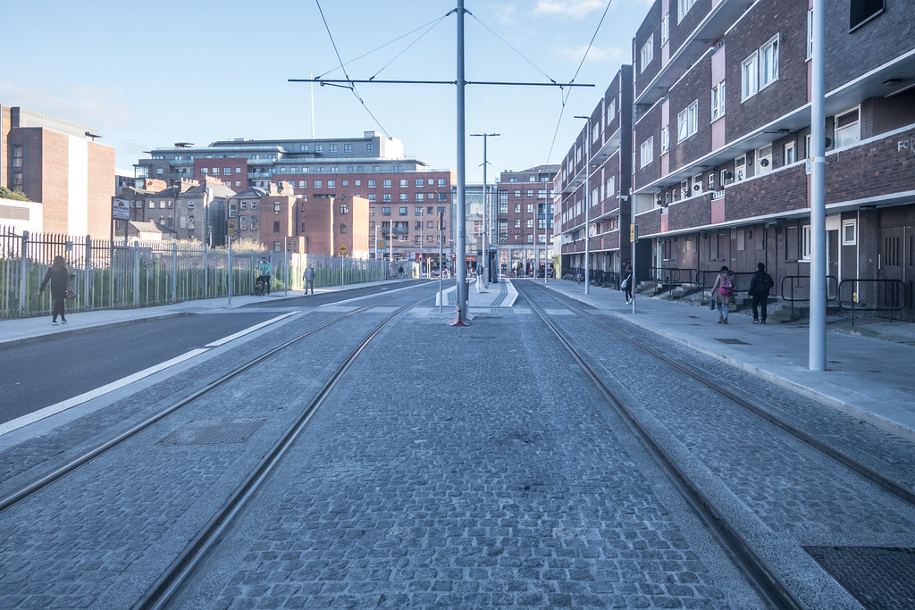 DOMINICK STREET BOTH SIDES OF THE TRACKS [THE NEW LUAS TRAM LINE]-133621