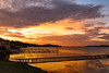 Sky Fire (Sterling67) Tags: kilaben bay sunrise water lakemacquarie reflection pier 2470 7d
