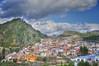 (752/17) Un pueblo maravilloso (Pablo Arias) Tags: pabloarias photoshop photomatix capturenxd españa cielo nubes arquitectura carretera montaña colina planes alicante