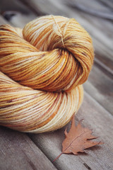 October Leafs sock yarn (L♥valizious) Tags: sockyarn sock yarn handdyed indie dyer yellow autumn knit knitting crochet fiber merino nylon superwash