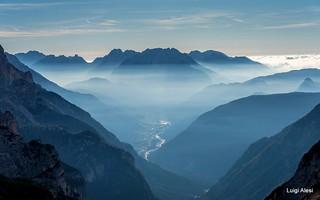 Dolomiti - Auronzo dal rifugio Auronzo