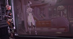 Safely Behind Glass (Kimiko Mazoku) Tags: cyerce maz insilico mars cyberpunk dystopian future medical cyborg tactical uniform vasc scifi stasis