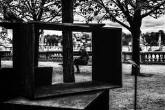 Dans la boîte.../ In the box... (vedebe) Tags: noiretblanc netb nb bw monochrome ville city rue street urbain paris art artcontemporain humain people