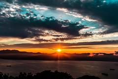 Hakodate Sunset Part 2 (samstandridge) Tags: sunset japan japanese journey sam standridge sony alpha 6000 a6000 adventure asia sky sea mountains mountain sun water clouds rays nihon