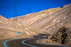 Winding roads through Northern Chile near the Atacama desert.  Our first look at the power line infrastructure.