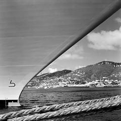 Bow, St. Thomas (TPStearns) Tags: ship film monochrome tlr ricohmatic225 120 6x6 blackandwhite bw mediumformat