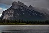 Mount Rundle and Vermillion Lakes (Banff National Park) (thor_mark ) Tags: nikond800e lookingse day1 triptoalbertaandbritishcolumbia colorefexpro capturenx2edited banffnationalpark blueskieswithclouds canadianrockies evergreens hillside hillsideoftrees nature outdoors landscape mountrundle rundlepeaks trees vermilionlakesarea vermilionlakes lake nearsunset rockymountains mountains mountainsindistance mountainsoffindistance outside cloudsaroundmountains hillsides sunsettime sunsetlight project365 southerncontinentalranges southbanffranges alberta canada