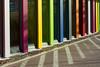 Colors and reflections (Jan van der Wolf) Tags: map160183v composition compositie rainbow colours colors kleuren reflections spiegeling architecture architectuur windows ramen rhythm visualrhythm herhaling repetition biblion