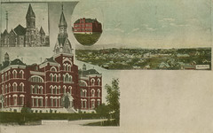 Multiview, 1909- Moscow, Idaho (Shook Photos) Tags: postcard postcards multiview multiviewpostcard multiviewpostcards campus universityofidaho administrationbuilding ui vandals moscowidaho moscow idaho latahcounty