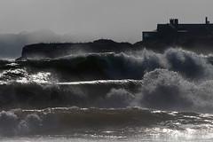 Living on the edge (cheryl.rose83) Tags: ocean water waves stormy newport rhodeisland