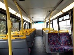 Upper deck interior of PVL93 (MrMaguire) Tags: w493wgh w493 wgh go coach 8303 london general ahead croydon tram replacement service
