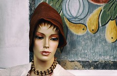 Dreamy And A Brown Hat (Alfred Grupstra) Tags: women fashion beauty females humanface youngadult portrait beautiful people oneperson elegance adult fashionmodel glamour sensuality lookingatcamera looking brownhair woodmaterial mannequin medemblik