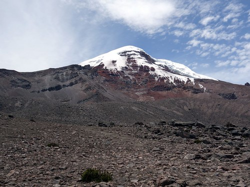 Chimborazo from the Carrel Hut car park