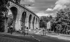 Durham rail viaduct. (CWhatPhotos) Tags: cwhatphotos viaduct bridge rail railway durham city mono black white olympus omd em10 digital camera photographs photograph pics pictures pic picture image images foto fotos photography artistic that have which with contain