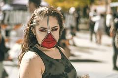 Zipper face (adrianmichaelphotography) Tags: halloween zombiecrawl costumes cosplay denver streetphotography street portraits streetcar streetportraits zombies