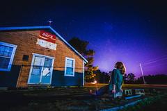 Fallout Corner Store (ashercurri) Tags: nc north carolina sony nex nex7 7 alpha landscape stars night stary brick architecture corner store dark model