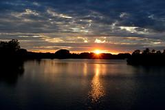 September Finale (NaturalLight) Tags: sunset water reflections chisholmcreekpark wichita kansas