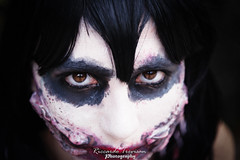 Killer's stare (Riccardo Trevisan) Tags: eyes occhi sguardo stare details primopiano foreground makeup serious girl cosplay