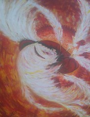 IKAROS (tomas491) Tags: burning sun wax feathers tragic mythology crete greek fantasypainting oilacrylic painting homemade