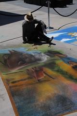Street Art (Wiley C) Tags: chalk drawings orangecountyfair costamesa california silhouette candid streetphotography july2017