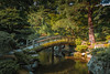 The Garden at Kyoto Imperial Palace (Ray in Manila) Tags: imperialpalace japan kyoto garden bridge stream water green eos650d efs24mm trees historical royalty
