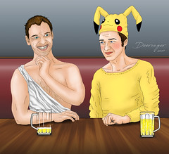 Halloween Cherik (The Deeranger) Tags: cherik xavier professor x charles erik lehnsherr magneto xmen digital art illustration pikachu halloween costume funny cute